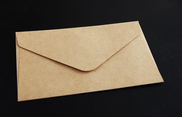 差出人不明の手紙