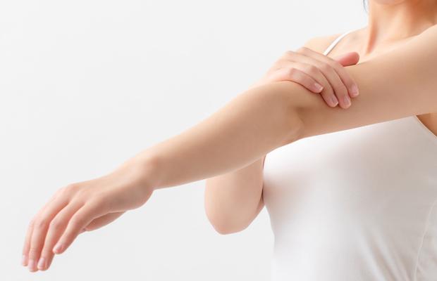皮膚の観察とレーザーの設定