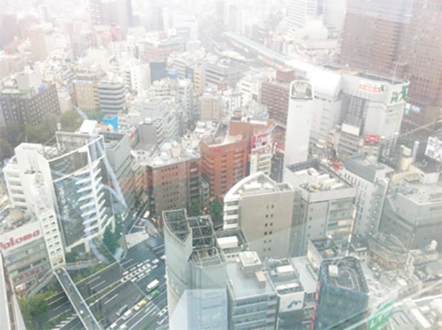 転職フェア会場(新宿エルタワー30F)からの眺め